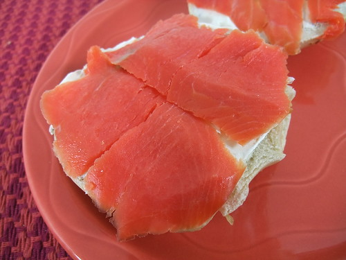 Bagel with Cream Cheese and Smoked Salmon | by swampkitty
