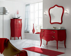 Red & White Bathroom | by Jessie {Creating Happy}