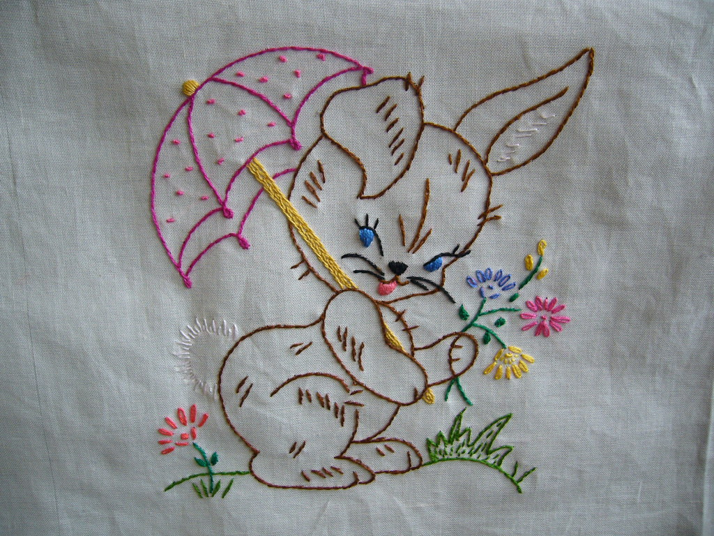 rabbit quilt square | 2 down, 10 to go! Pattern at: www ...
