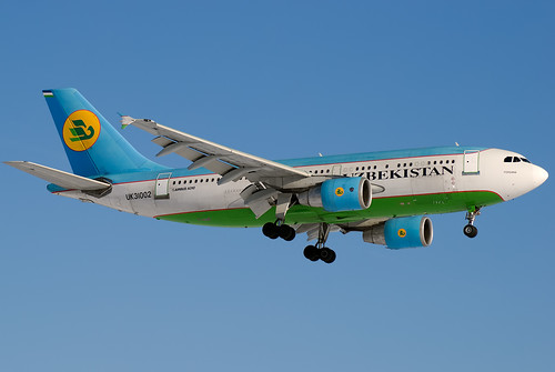 "UK-31002 Uzbekistan Airways  Airbus A310-324 ""Fergana"" 