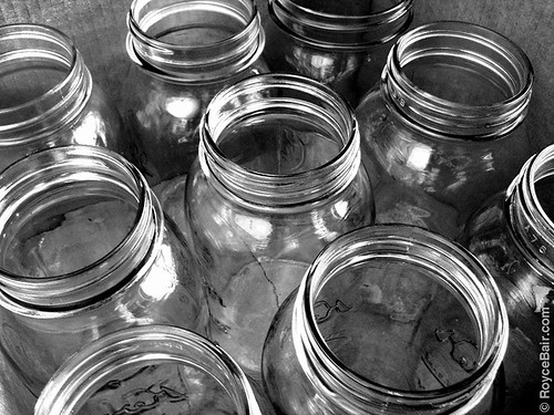 Fire faux easy things to with old empty jars for Things that are empty
