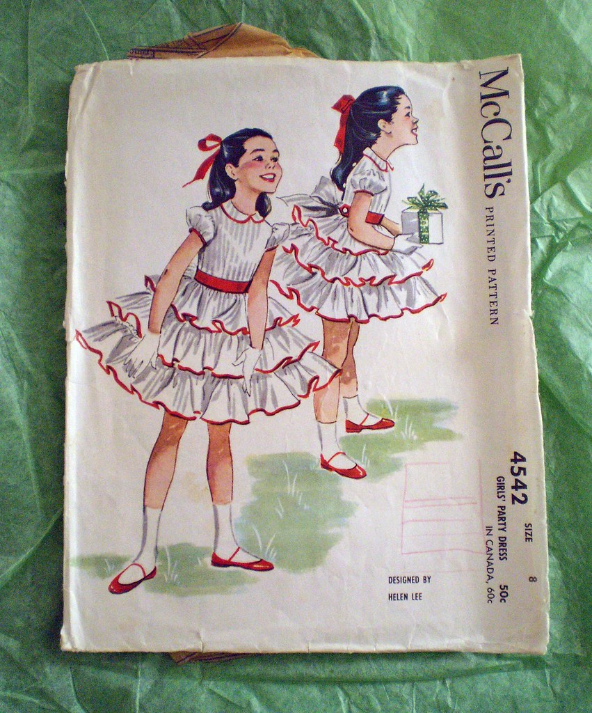 Vintage McCall's Girls' Party Dress Pattern | Designed by ...