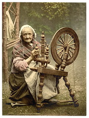 [Irish spinner and spinning wheel. County Galway, Ireland] (LOC) | by The Library of Congress