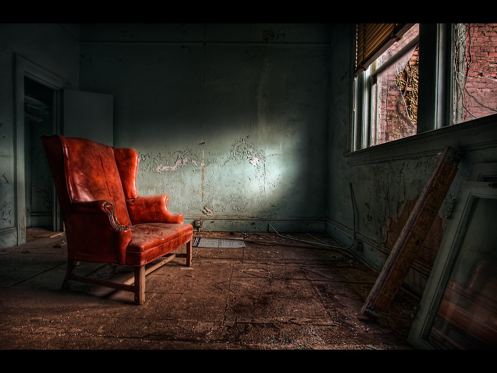 Red chair photography -  Hardcore Chair For A Hardcore Place By C Jones