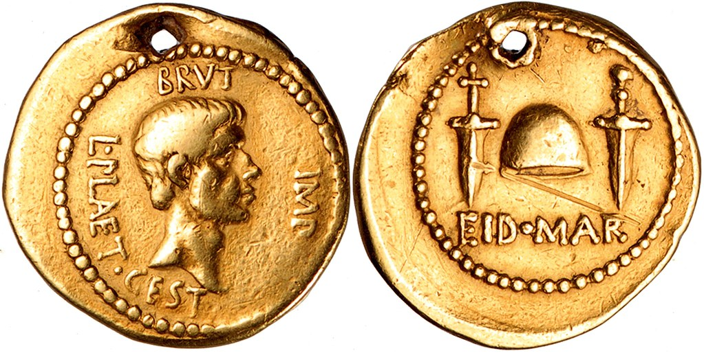 508 4 Aureus Brutus Cap Of Liberty Two Daggers Eid Mar Id