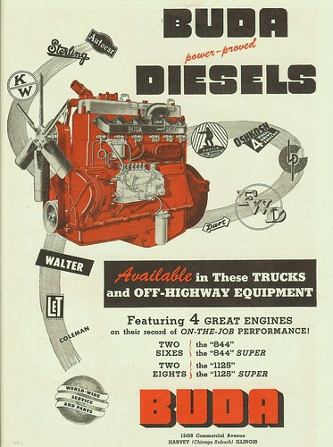 Buda Diesel 1947 Impressive List Of Customers How Long