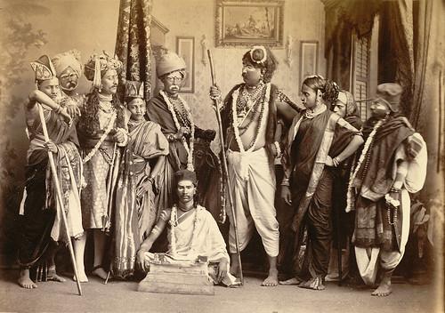 Indian Theatrical Group Mumbai 1870s Photograph Of A