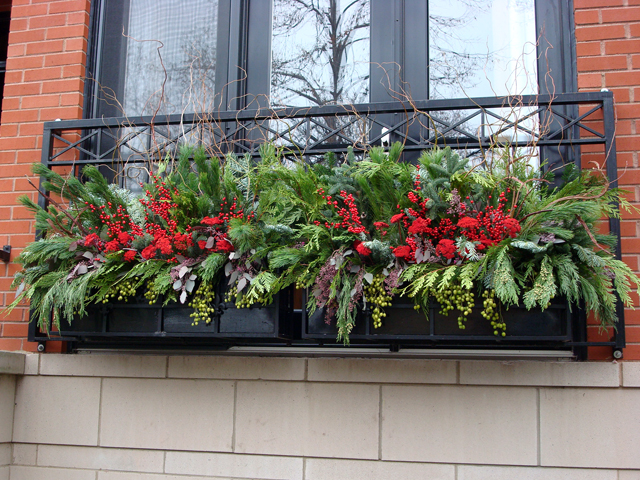 Decorate Window Box For Christmas