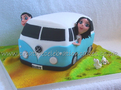 Vw Campervan Cake A Fun Novelty Cake Made For A Wedding