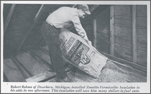 Zonolite Attic Insulation Installation From A Vintage