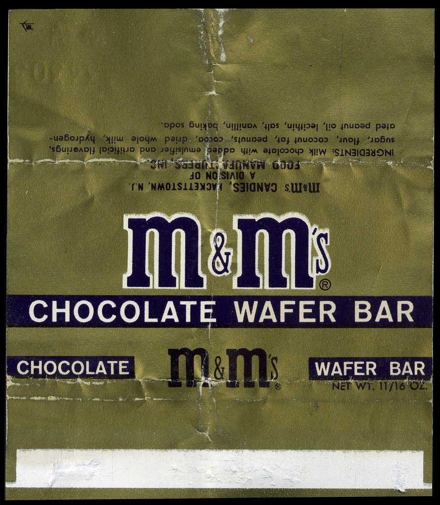 M m 39 s chocolate wafer bar food manufacturers inc candy for Food bar manufacturers