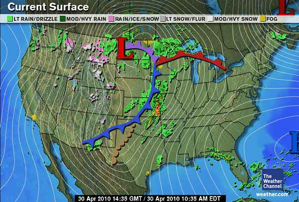Local Weather Channel Weather Forecast : Current surface map weather channel  flickr