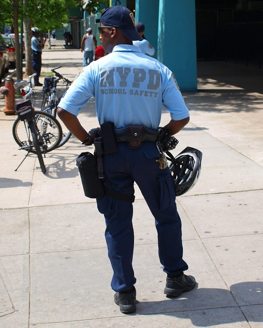 PMSC NYPD School Safety Bicycle Police Officer, Harlem