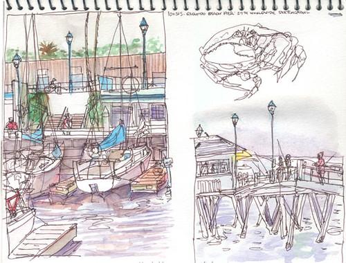 Beach Pier Drawing Redondo Beach Pier California