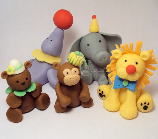 Jungle Animal Birthday Cake Toppers