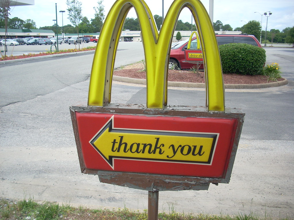McDonald's Thank You sign | McDonald's #4927 (4,243 square ...