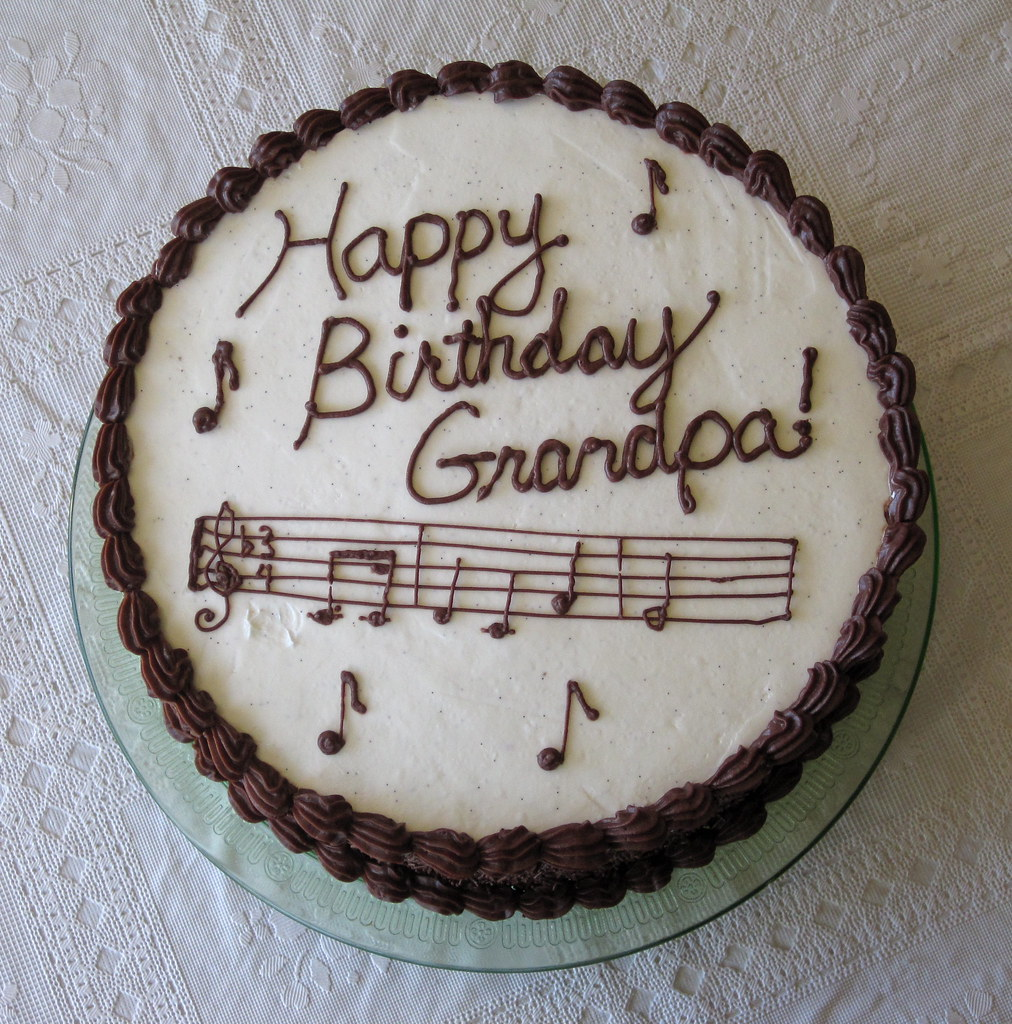 Grandpa Ralphs Birthday Cake Happy Birthday Grandpa This Flickr