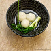Savory mochi dumplings in light broth (sup banh troi man)
