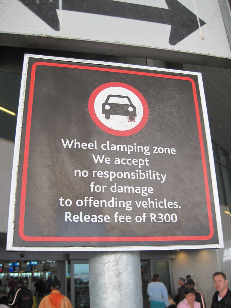 Wheel Clamping In Pub Car Parks