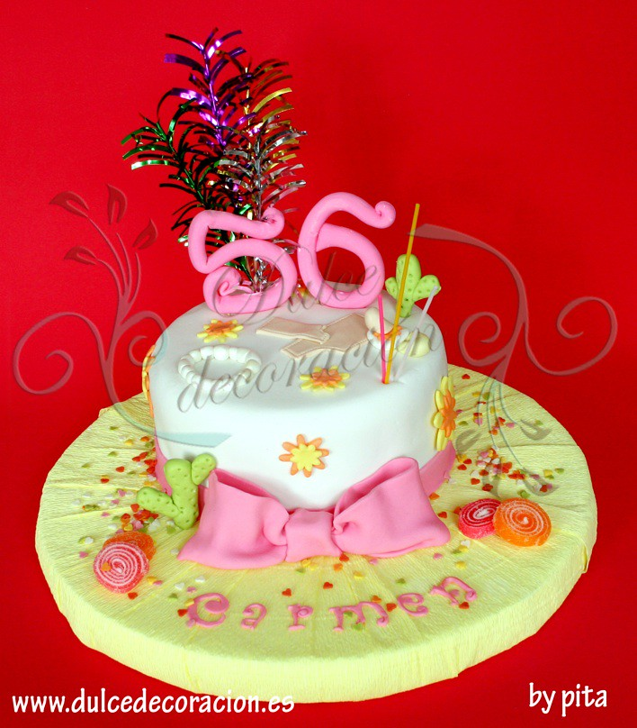 tarta de cumpleaos para mama by dulce decoracin modelado tartas decoradas