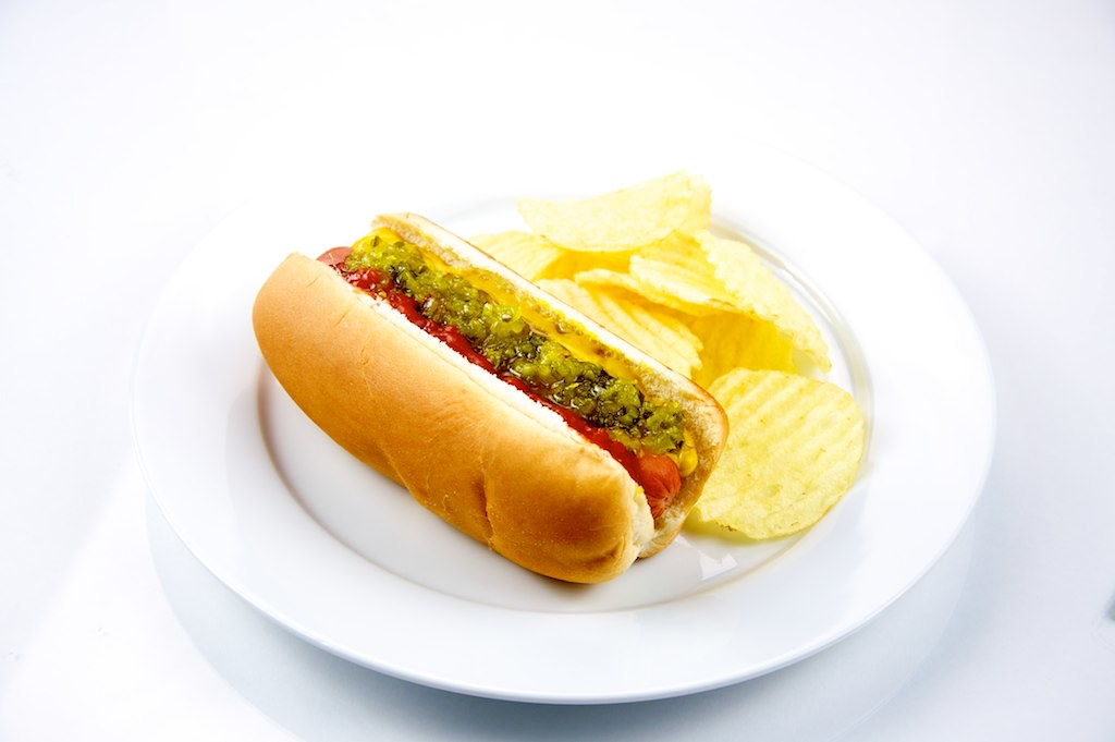 Hotdog And Chips Clipart Hot Dog with Po...
