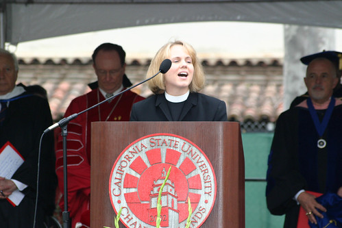 Rev. Julie Morris speaking at Commencement | by California State University Channel Islands