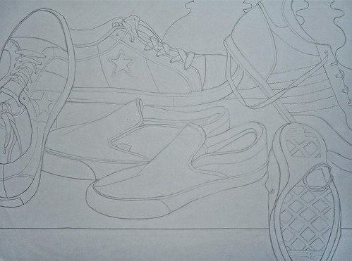 Contour Line Drawing Jobs : Contour line drawing shoes lisa lizarraga flickr