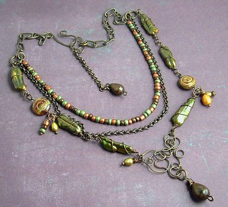 Rainforest Necklace | by Vintajia Adornments