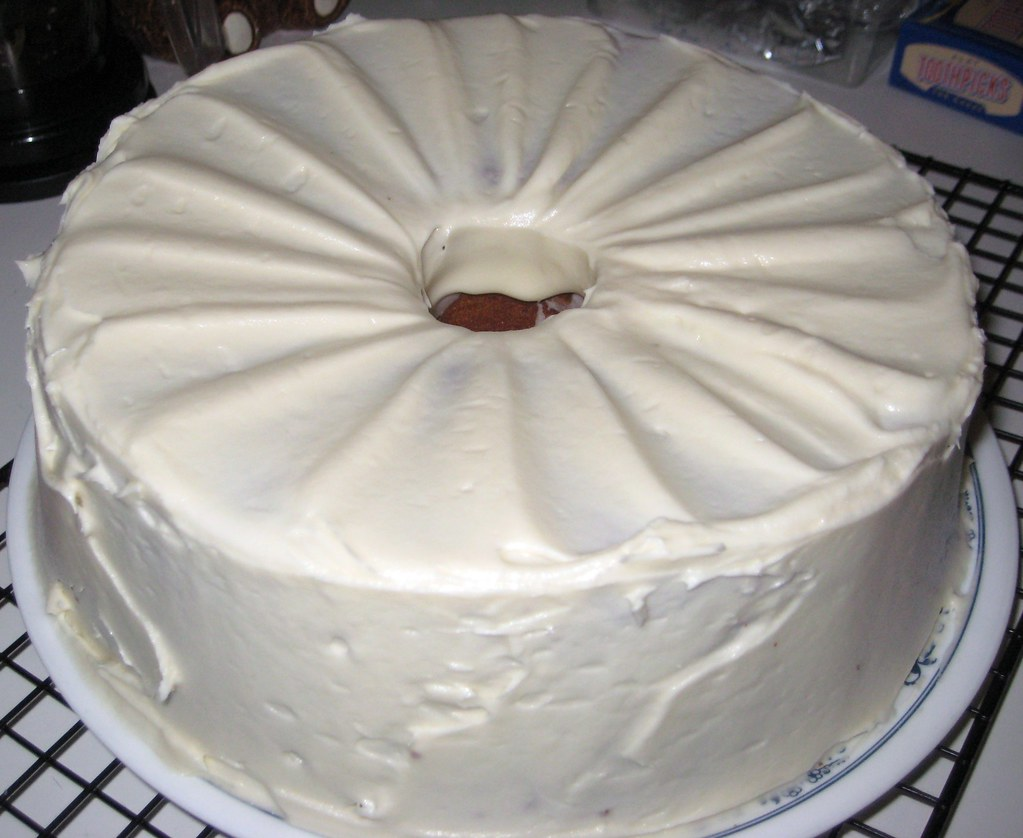 Cake Frosted With Mayo