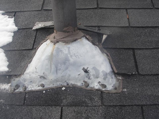 Roof Vent Pipe Stack Damaged Problem Pipe Stack On 2nd