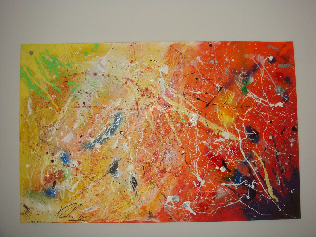 One Abstract Acrylic Drip Splatter Art Painting Flickr
