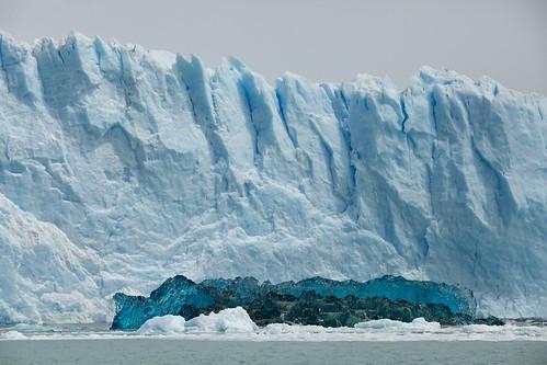 Ice glacier underwater