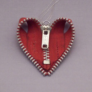 Zipper Heart ornament | by Create With Bogate