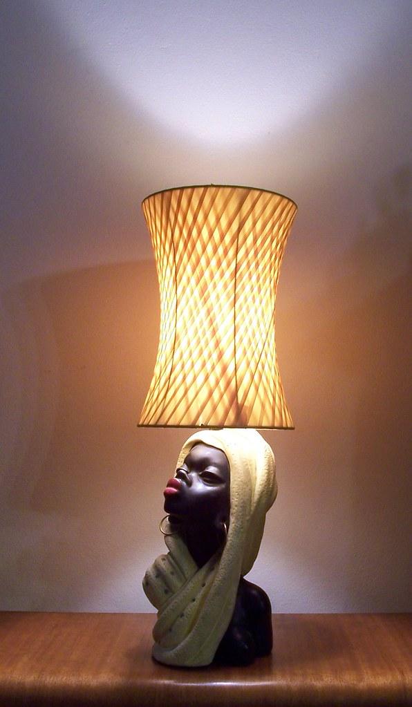 Barsony Silver Cloud Black Lady Lamp Still A Quot Barsony