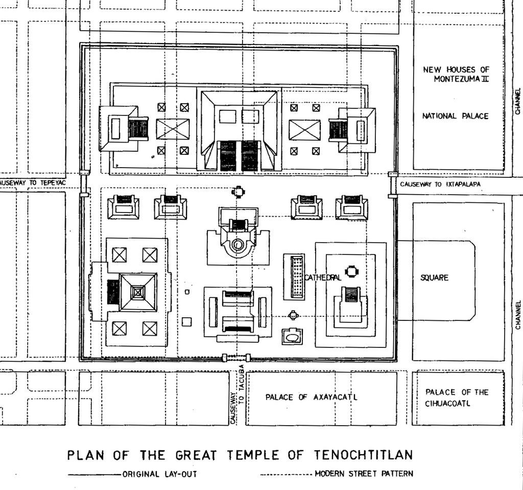 Qa124 A Plan Of The Templo Mayor Of Tenochtitlan Flickr