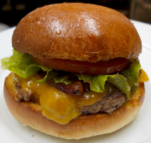 Bacon Cheese Burger on Brioche Bun | Fresh, ground sirloin ...