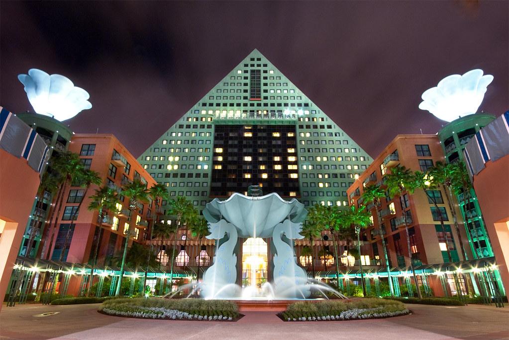 Walt Disney World Dolphin Hotel Fountain The Dolphin