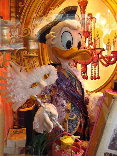 Donald Duck in Roccocco garb