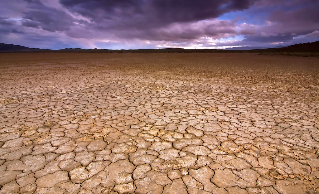 Dry Lakebed, Anza Borrego State Park | This shot was take