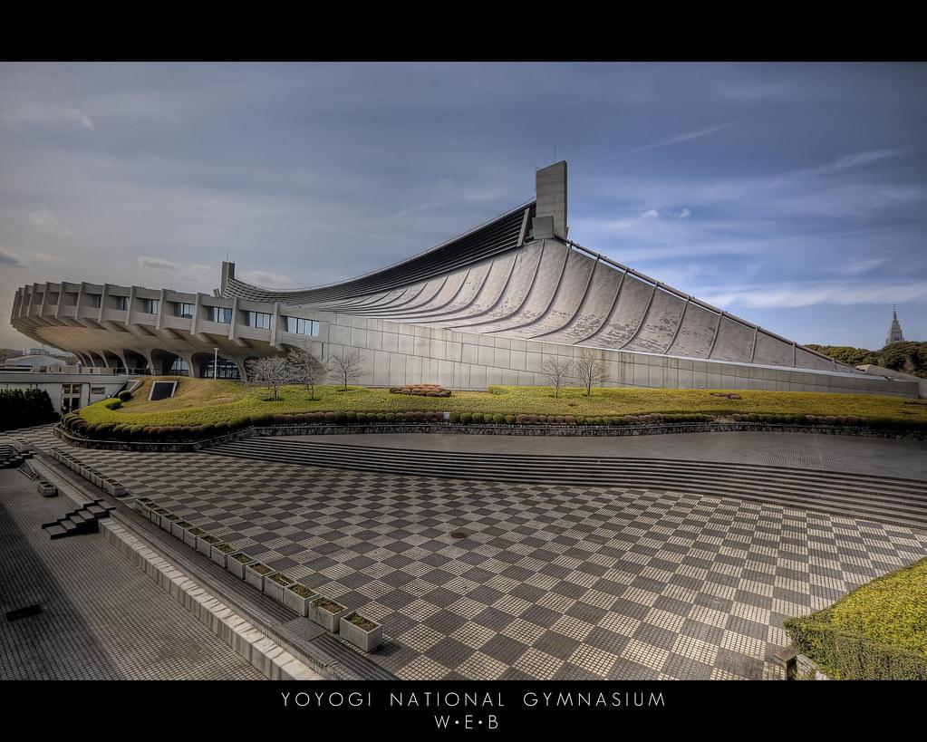 Yoyogi National Gymnasium Tokyo Japan On Black