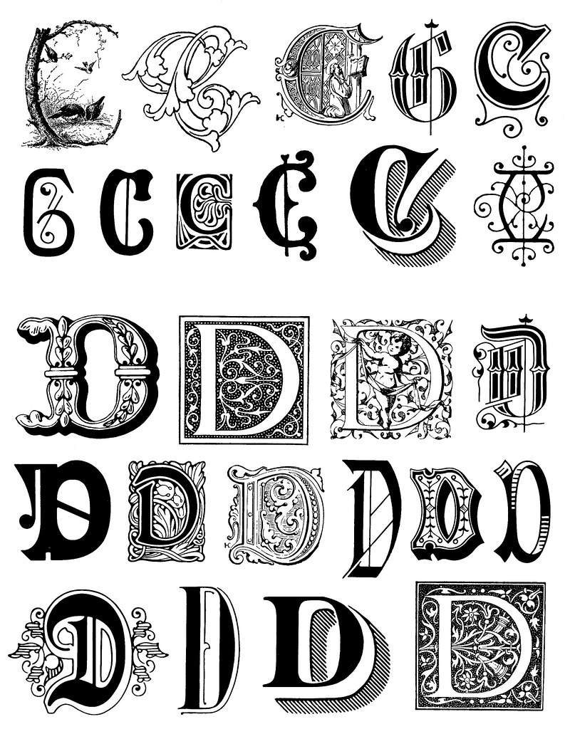 Capital Calligraphy Fonts Images