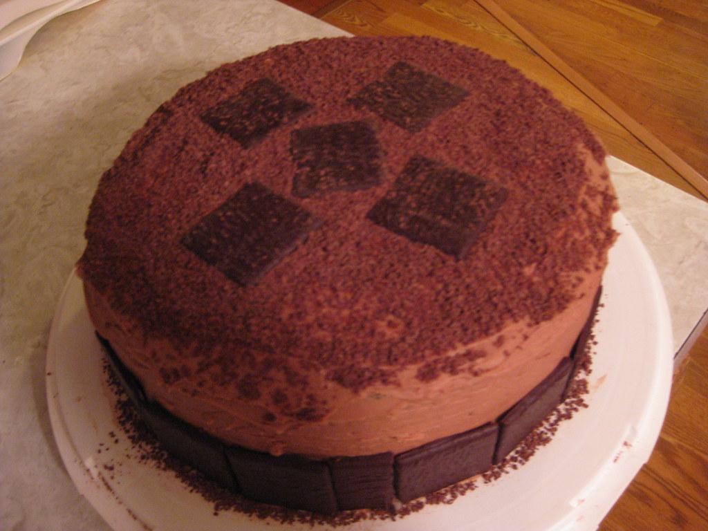 Hard Chocolate Cake Topping