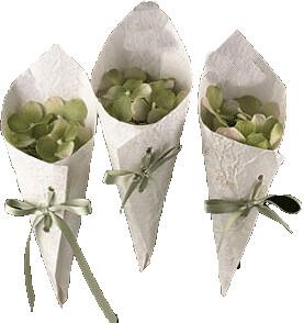 Coni porta petali in carta di riso coni porta petali - Cesto porta coni di riso ...
