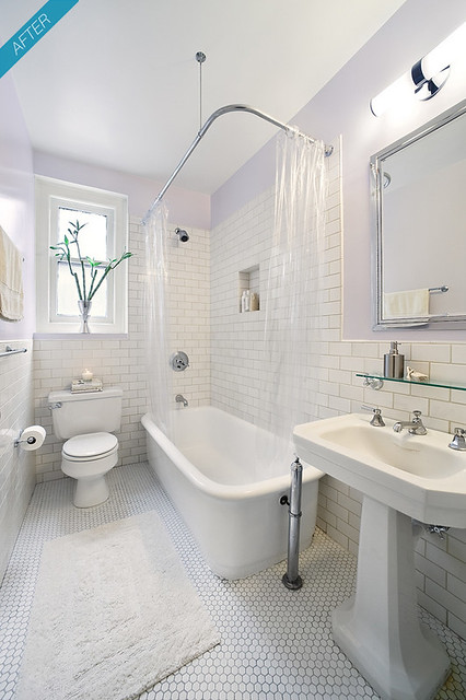New york city prewar apartment bathroom after rachel for Bathrooms in nyc