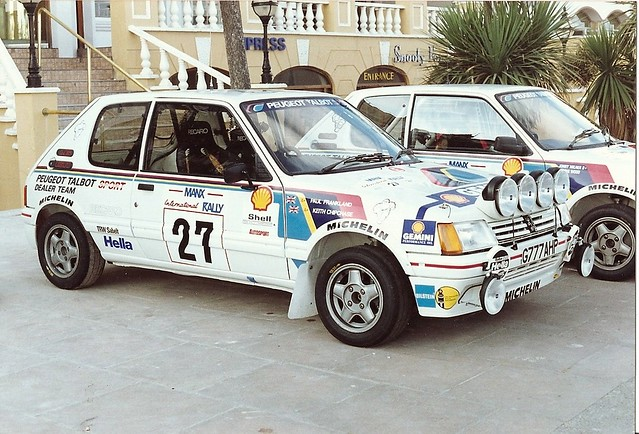 peugeot 205 gti rally car 80s | brian | flickr