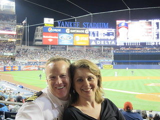 Sean Spicer and Rebecca Spicer | Yankees Stadium versus Clev ...