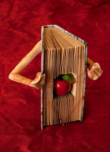 Altered Book: Without the Heart, There Can be no Understanding Between the Hand and the Mind | by Rachael Ashe