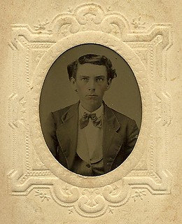 oval albumen portrait/ somber young man | by redrock flyer