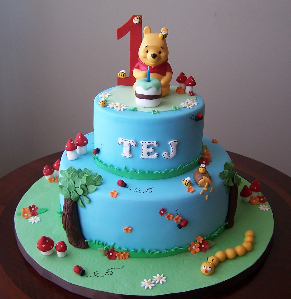 Winnie the Pooh cake My client requested a 2-tier ...