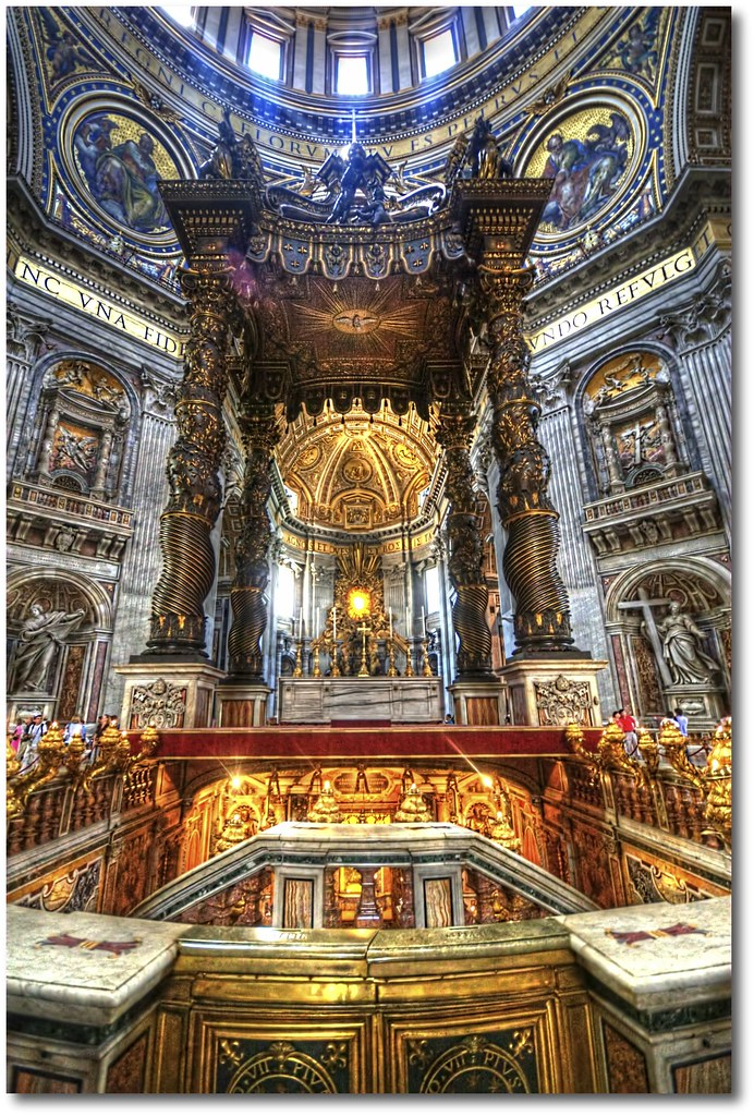 St Peter S Baldachin Hdr Rome Another Photo Of The